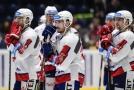 Zklamaní hokejisté Pardubic po jedné z letošních porážek.
