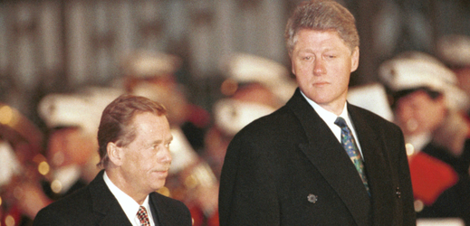 Václav Havel (vlevo) a Bill Clinton.