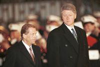 Václav Havel (vlevo) a Bill Clinton.