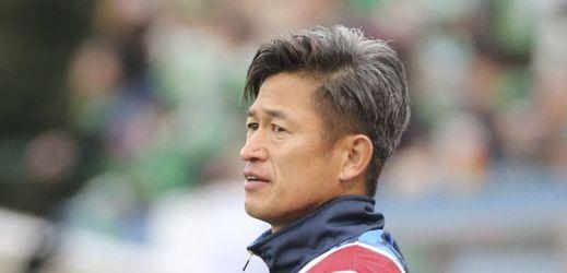 Nejstarší profesionální fotbalista světa Kazujoši Miura.