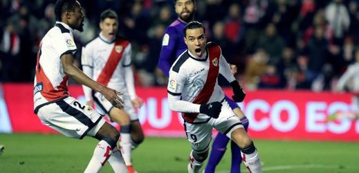 Střelec hattricku v zápase Vallecano-Celta Vigo útočník Raúl De Tomás.