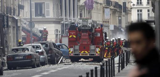 Zásah hasičů na místě neštěstí.