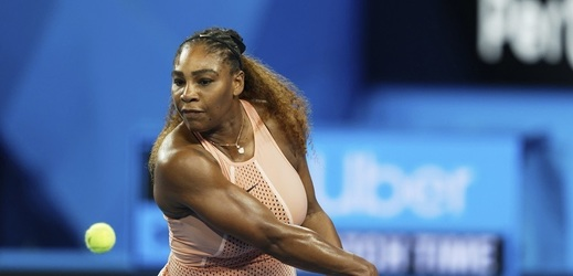 Americká tenistka Serena Williamsová na Hopmanově poháru.