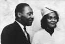 Martin Luther King a jeho žena Coretta Scott Kingová.