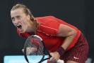 Petra Kvitová se raduje během finále turnaje v Sydney.