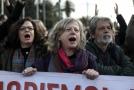 Demonstrace v Aténách.