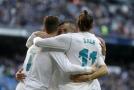 Útočné trio Realu Madrid Benzema, Ronaldo, Bale.