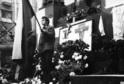 Uctění památky Jana Palacha na Václavském náměstí.