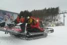 Pásové vozidlo ve skicentru Buková hora.