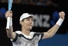 Tomáš Berdych slaví postup do osmifinále Australian Open.