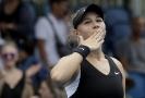 Americká tenistka s ruskými kořeny Amanda Anisimová se raduje z postupu do osmifinále Australian Open.