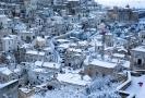 Zasněžené město Matera.