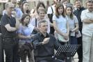 Umělecký šéf Brno Contemporary Orchestra Pavel Šnajdr (sedící uprostřed).
