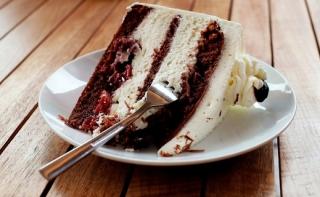 Čokoládový krémový dort.