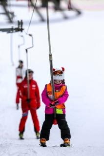 V beskydském Ski areálu Bílá panovaly 20. ledna 2019 ideální lyžařské podmínky.