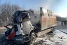 Dálnici D1 u Průhonic nedaleko Prahy uzavřela 21. ledna 2019 dopoledne zhruba na hodinu nehoda dvou nákladních aut, po níž se jedno vzňalo.