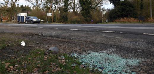 Místo, kde došlo k autonehodě prince Philipa.