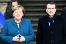 Německá kancléřka Angela Merkelová a francouzský prezident Emmanuel Macron.