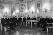Delegace zástupců šlechty předala Háchovi prohlášení věrnosti