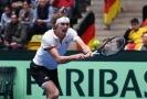 Německý tenista Alexander Zverev během úvodního kola Davis Cupu.
