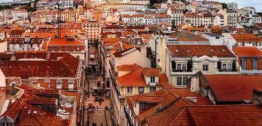 Ulice portugalského Lisabonu.