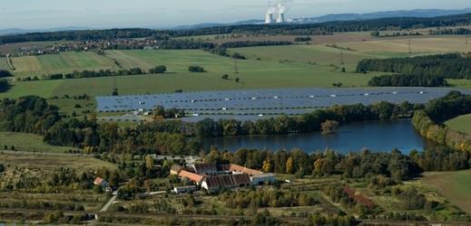Jihočeská solární elektrárna Ševětín.