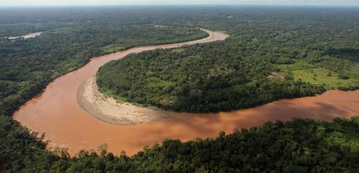 Deštný prales v Ekvádoru.