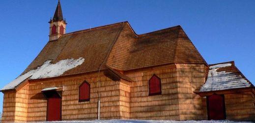 Vyšní Lhoty, kostel sv. Antonína Paduánského.