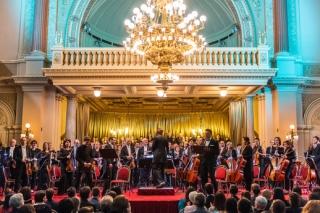 Závěrecný koncert festivalu filmové hudby Film Music Prague v Paláci Žofín.