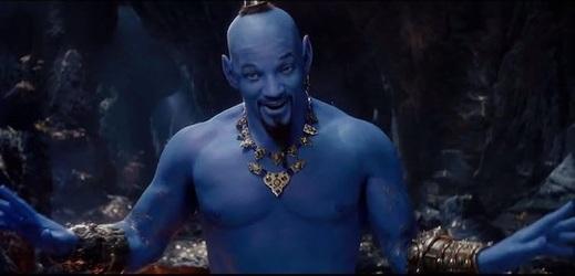 Will Smith jako Džin v připravované hrané Disneyho pohádce Aladin.