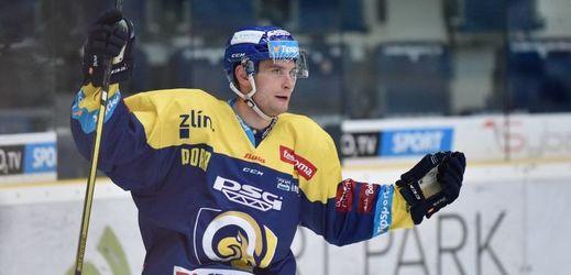 Hokejový obránce Zlína Dalibor Řezníček.