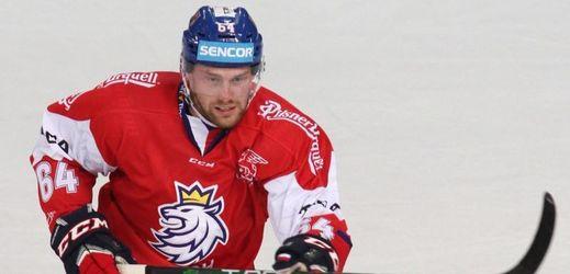 Hokejista Jiří Sekáč v dresu české reprezentace.