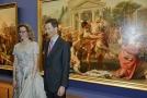 Knížecí pár Lichtenštejnů na otevření výstavy ve vídeňské galerii Albertina.