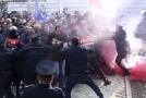Násilné prosincové demonstrace v Tiraně.