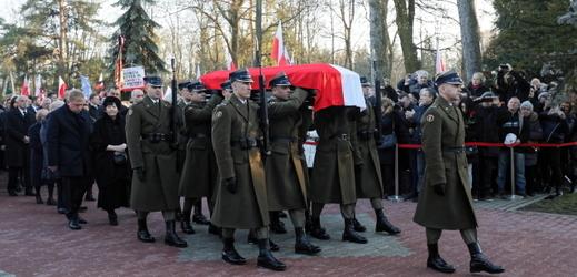 Pohřební průvod v Polsku.