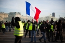 Sobotní demonstrace žlutých vest v Paříži.