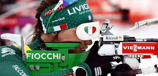 Italská biatlonistka Dorothea Wiererová.