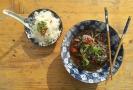 Toddy beef s kokosem a jasmínová rýže.