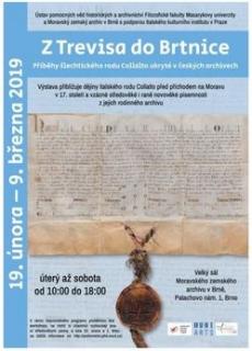 Cílem výstavy je prezentovat pozoruhodný příběh rodu Collalto na unikátních listinách, které dosud vystaveny nebyly a jejichž vydavateli byli císařové, papežové, španělští a francouzští králové či benátská dóžata.