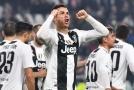 Cristiano Ronaldo z Juventusu se raduje ze vstřelené branky.