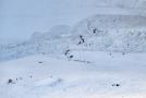 Záchranná služba pracuje na lavinovém místě v lyžařském středisku Crans-Montana ve Švýcarsku v úterý 19. února 2019.