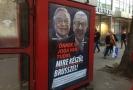 """Plakáty, na nichž jsou vyfoceni Juncker a Soros ve spojení s textem """"I vy máte právo vědět, na co se chystá Brusel!""""."""