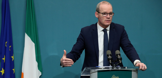 Irský Tánaiste,  Simon Coveney.