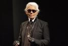 Proslulý módní návrhář Karl Lagerfeld.