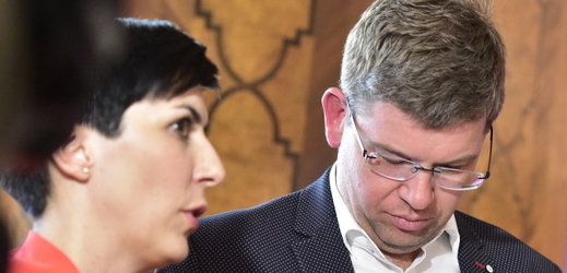 Místopředsedkyně TOP 09 Markéta Pekarová Adamová (vlevo) a předseda strany Jiří Pospíšil.