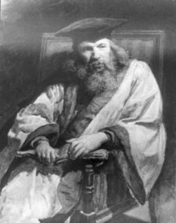 Dmitrij Ivanovič Mendělejev na dobovém obrazu.