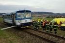 Osobní vlak se srazil s manipulačním vlakem.