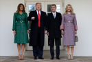Prezident Donald Trump, Melania Trumpová, Andrej Babiš a Monika Babišová.