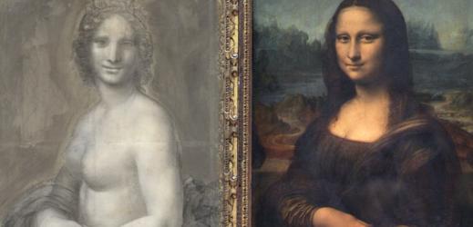 """""""Nahá Mona Lisa"""" v porovnání se slavnou Monou Lisou."""