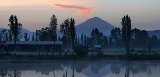 Sopka Popocatépetl.